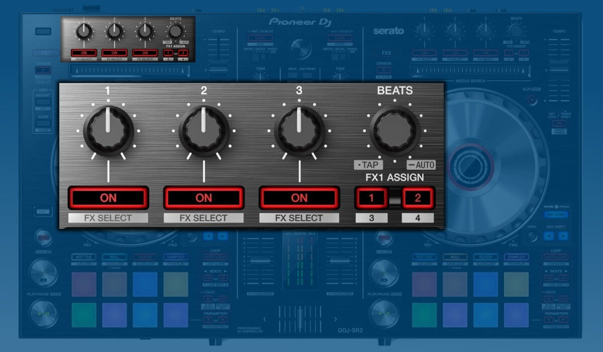 Pioneer DJ DDJ-SR2 effects section