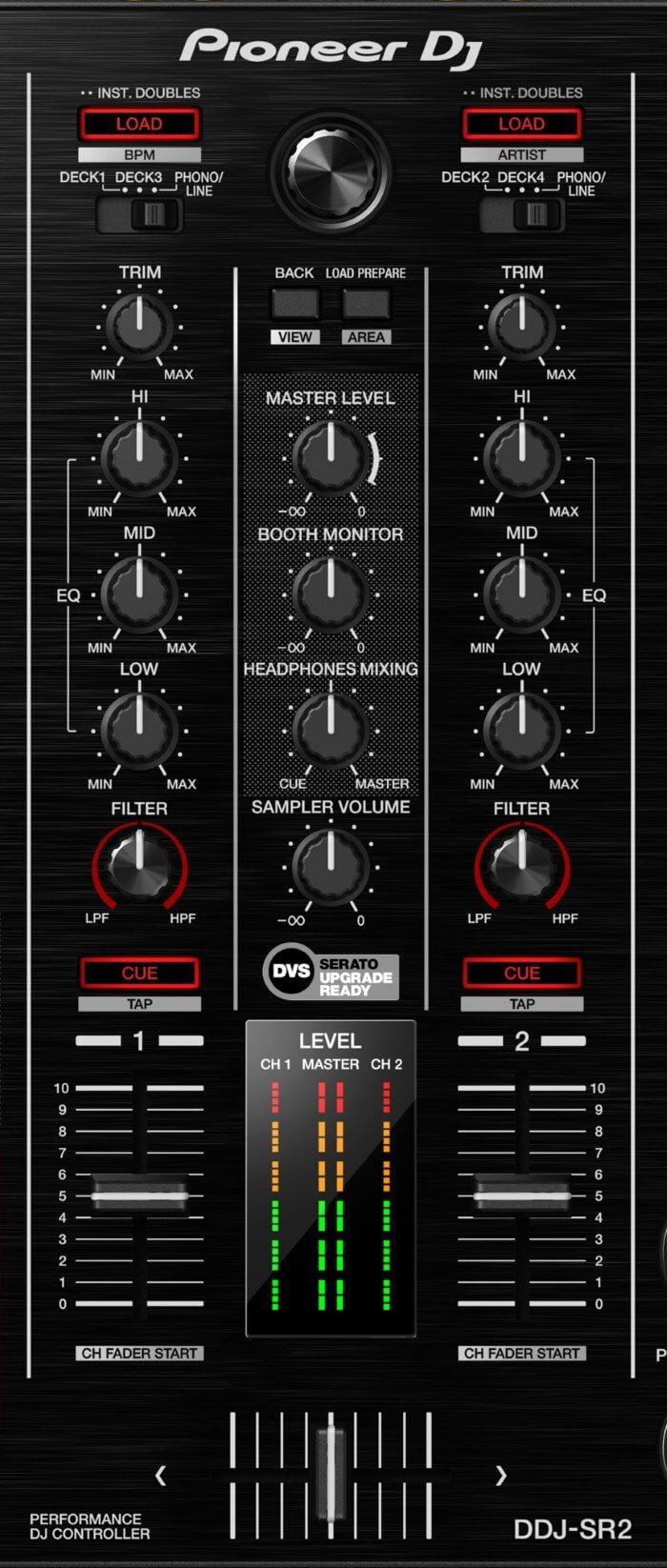 Pioneer DJ DDJ-SR2 mixer section