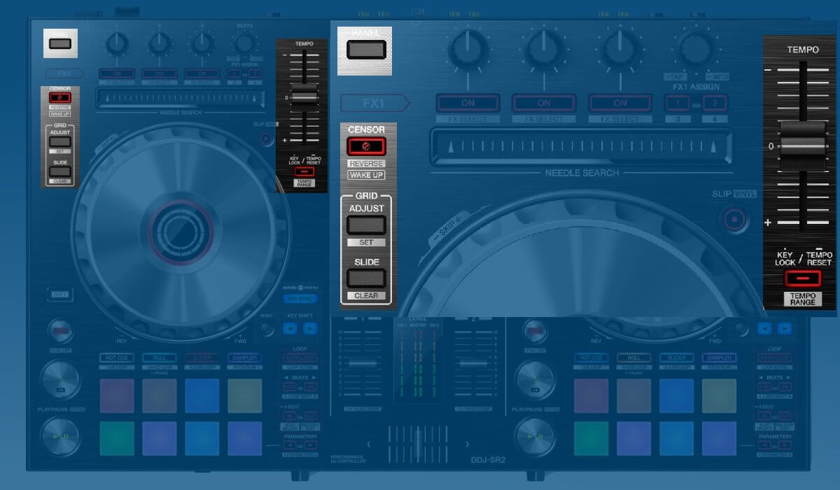 Pioneer DJ DDJ-SR2 other deck features