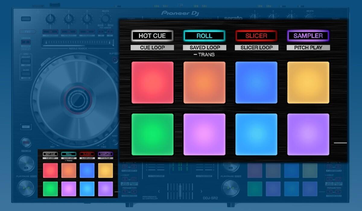 Pioneer DJ DDJ-SR2 performance pads