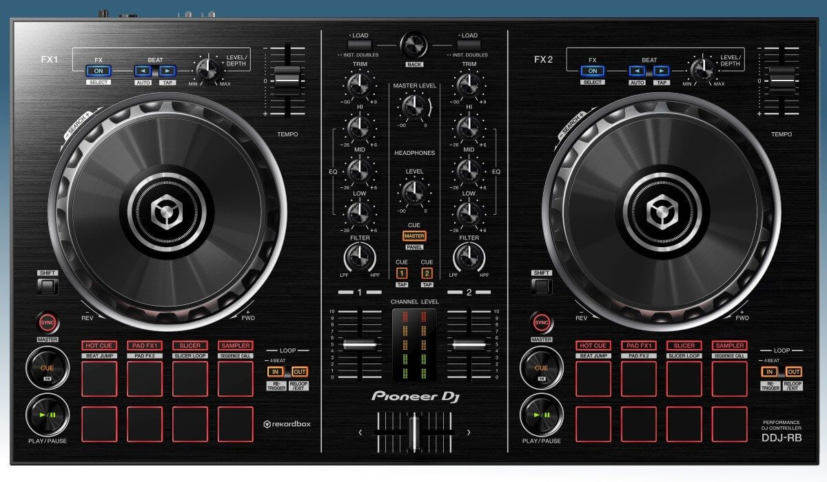 Pioneer DJ DDJ-RB top view