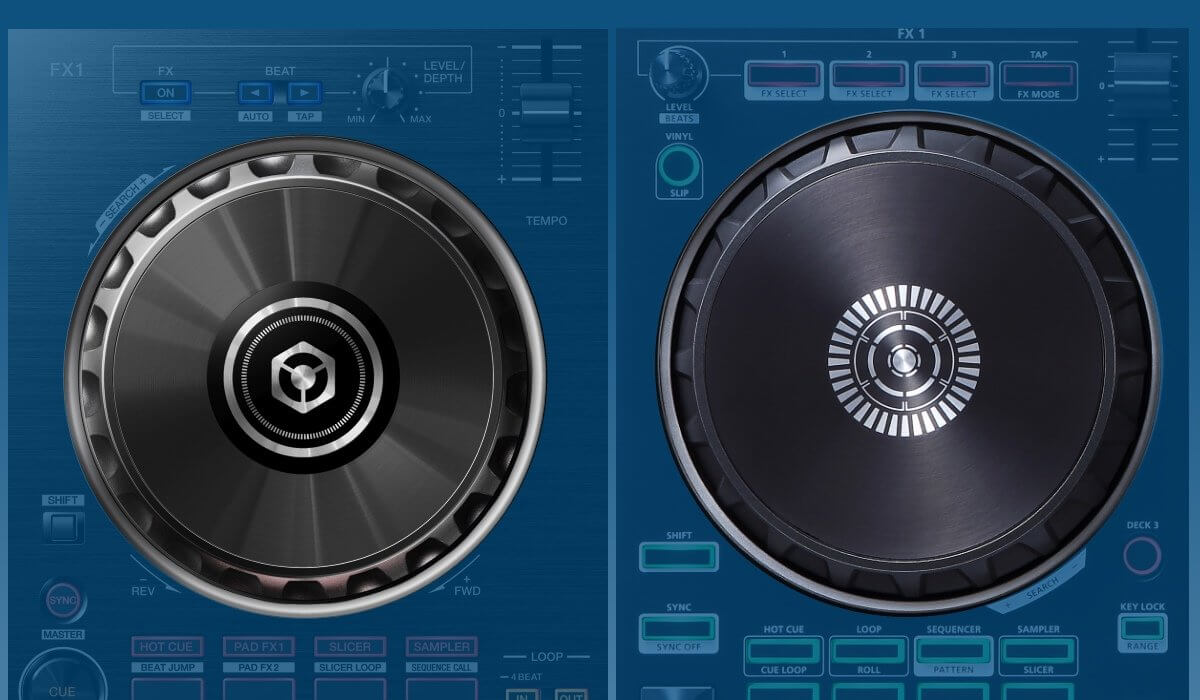 Pioneer DJ DDJ-RB versus Roland DJ-202: the jog wheels compared