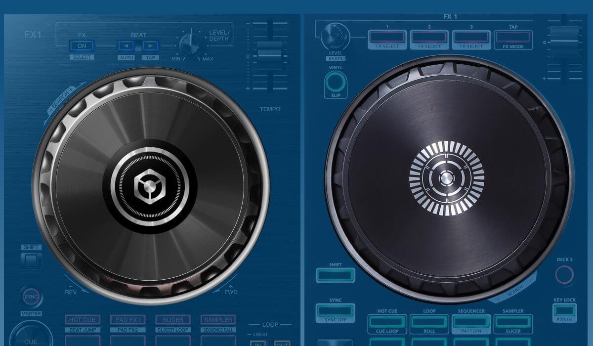 Pioneer DJ DDJ-RB versus Roland DJ-202: the jog wheels compared