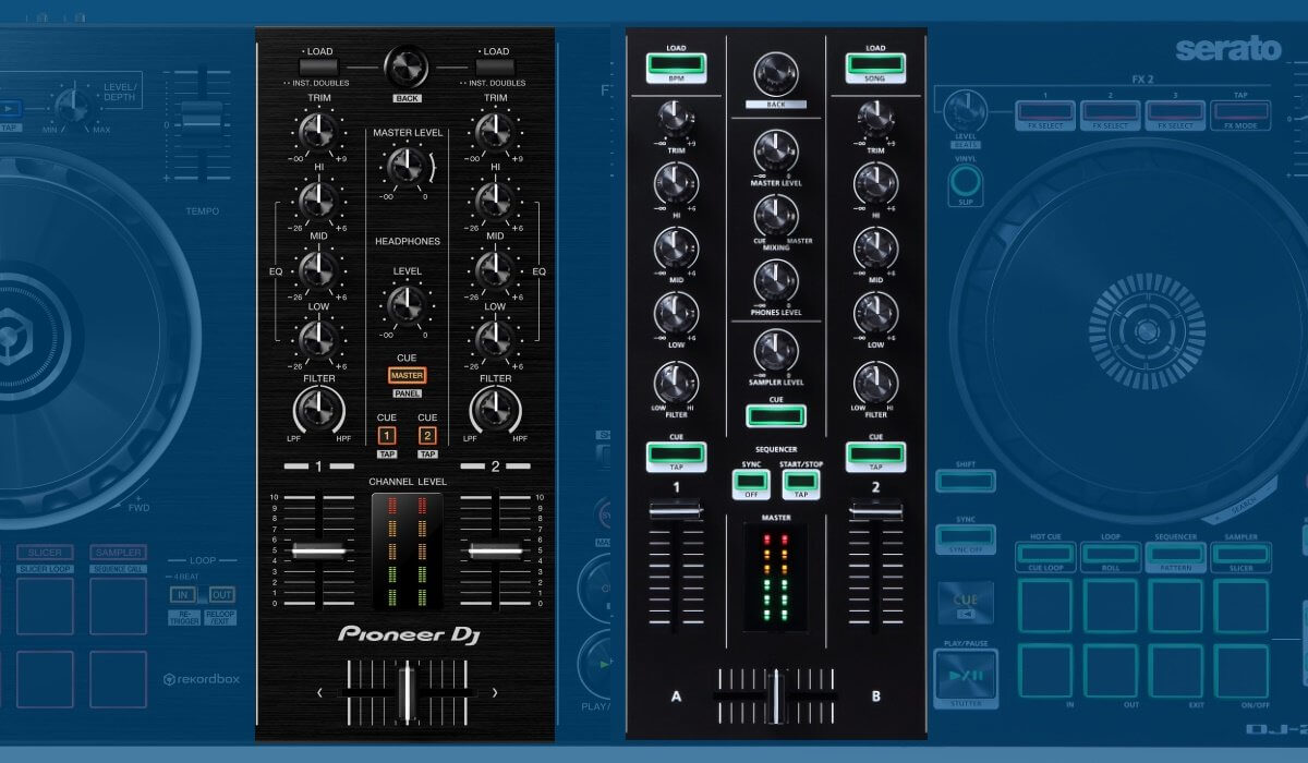 Pioneer DJ DDJ-RB versus Roland DJ-202: mixers compared