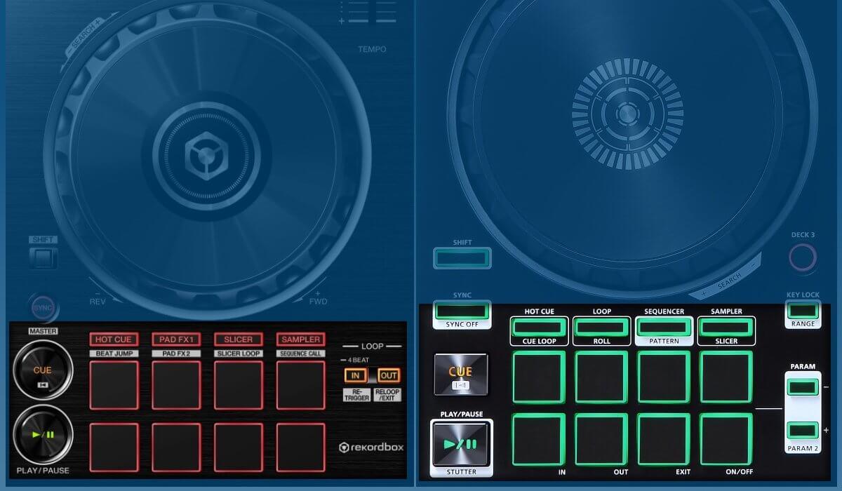 Pioneer DJ DDJ-RB versus Roland DJ-202: performance pads compared