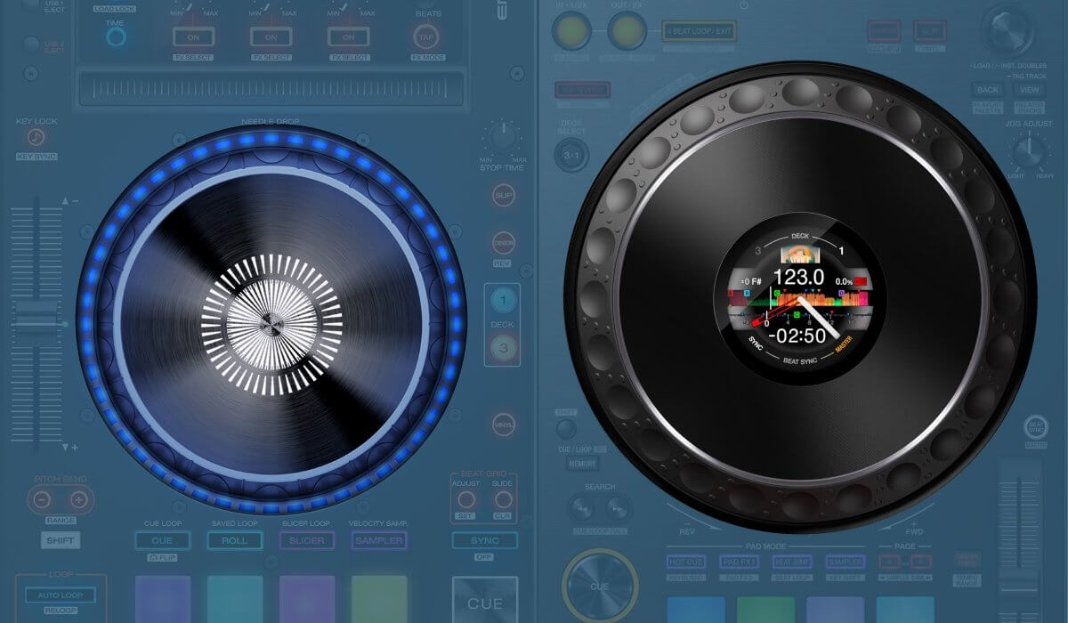 Denon DJ MCX8000 versus the Pioneer DJ DDJ-1000: the jog wheels compared.