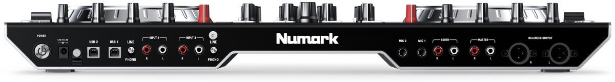 Numark NS6II inputs and outputs