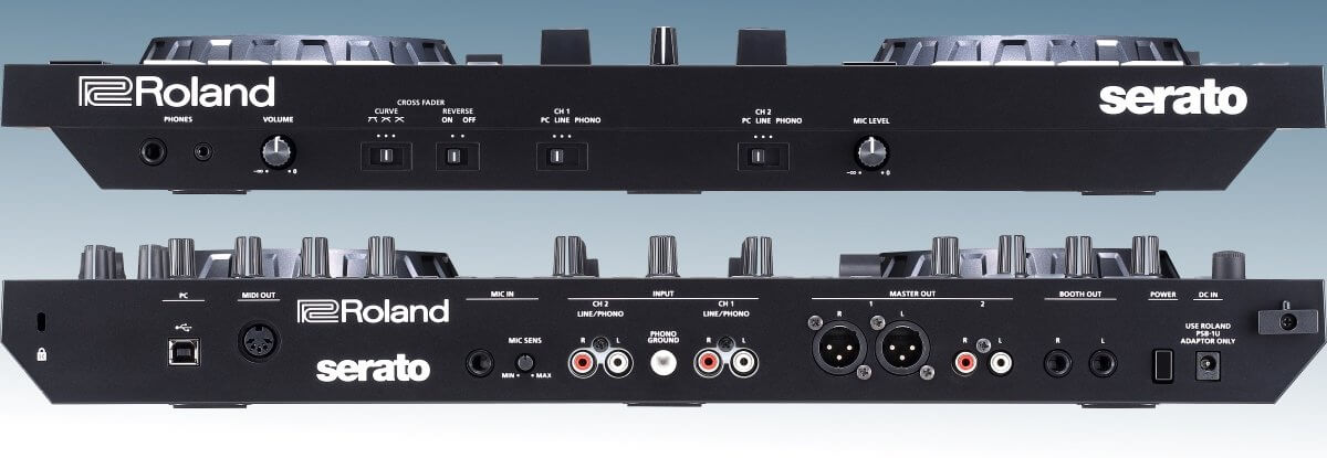 Roland DJ-505 inputs and outputs