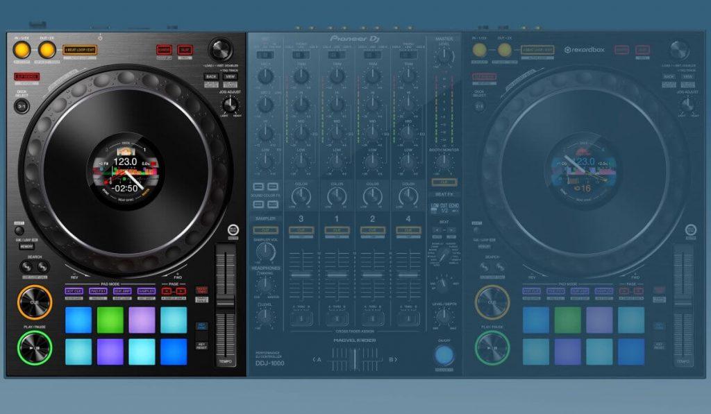 The decks of the Pioneer DJ DDJ-1000