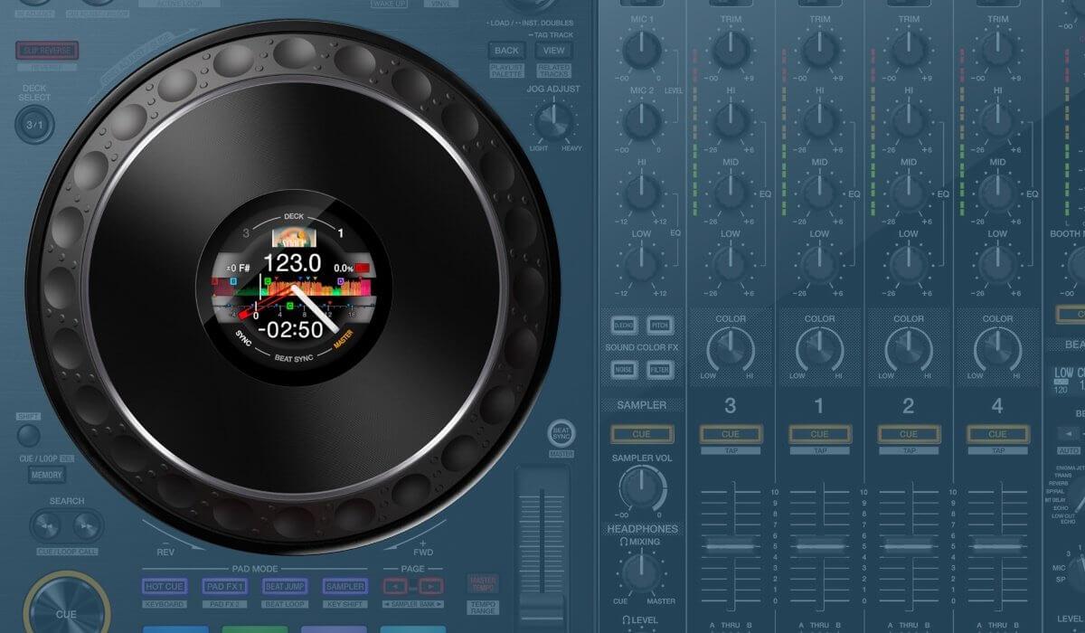 Pioneer DJ DDJ-1000 jog wheel detail