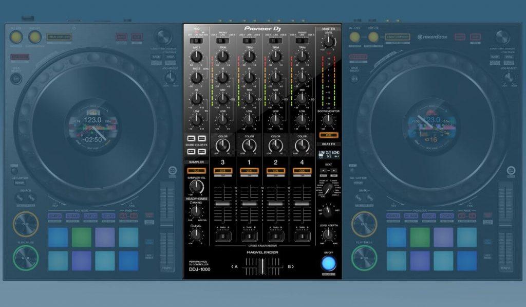 The mixer of the Pioneer DJ DDJ-1000