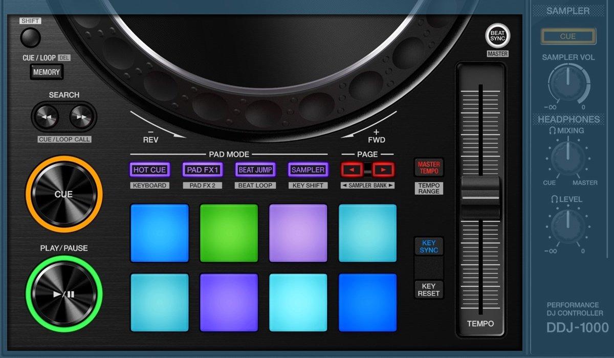Pioneer DJ DDJ-1000 performance & transort controls