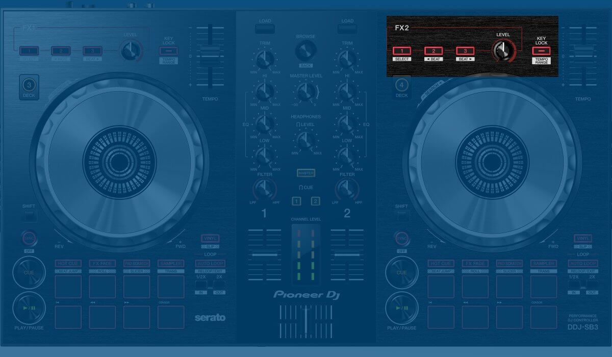 Pioneer DJ DDJ-SB3 effects section