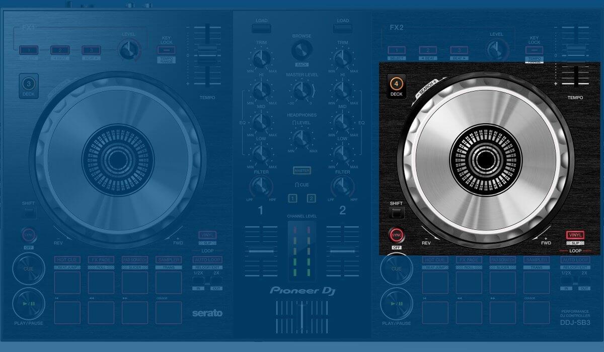 Pioneer DJ DDJ-SB3 jog wheels