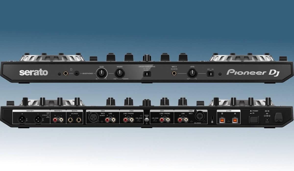 Pioneer DJ DDJ-SX3 inputs & outputs