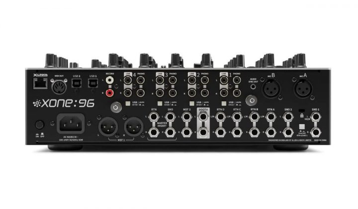 Allen & Heath Xone:96 back view