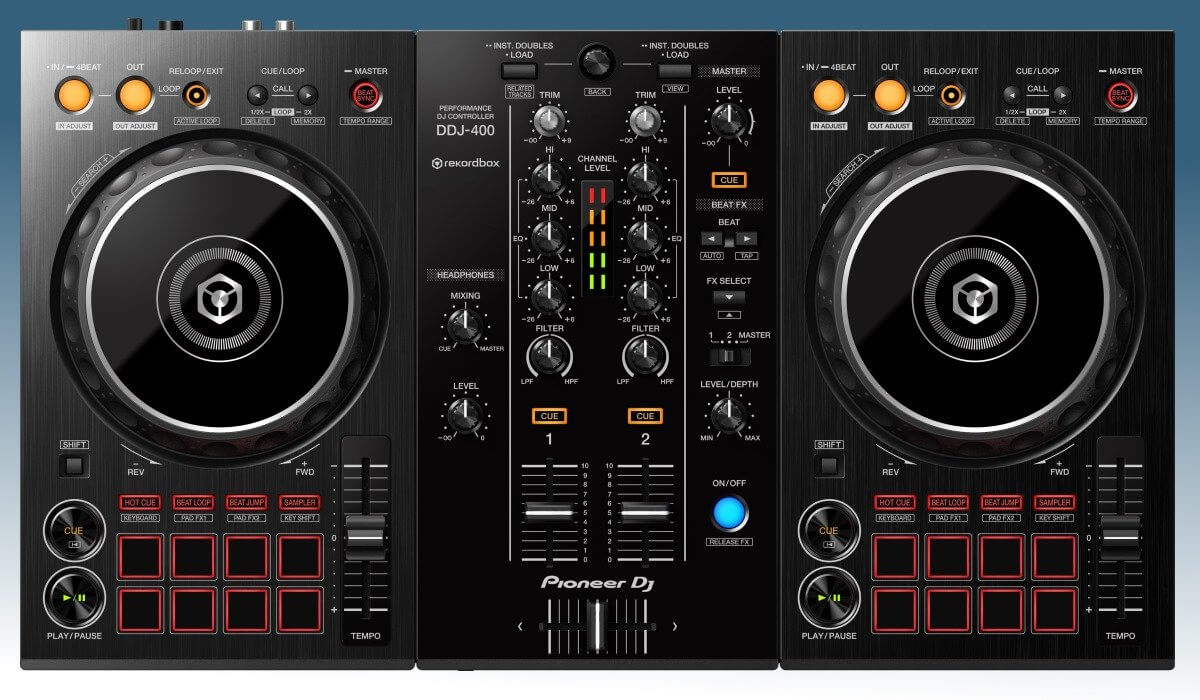Pioneer DJ DDJ-400 top view