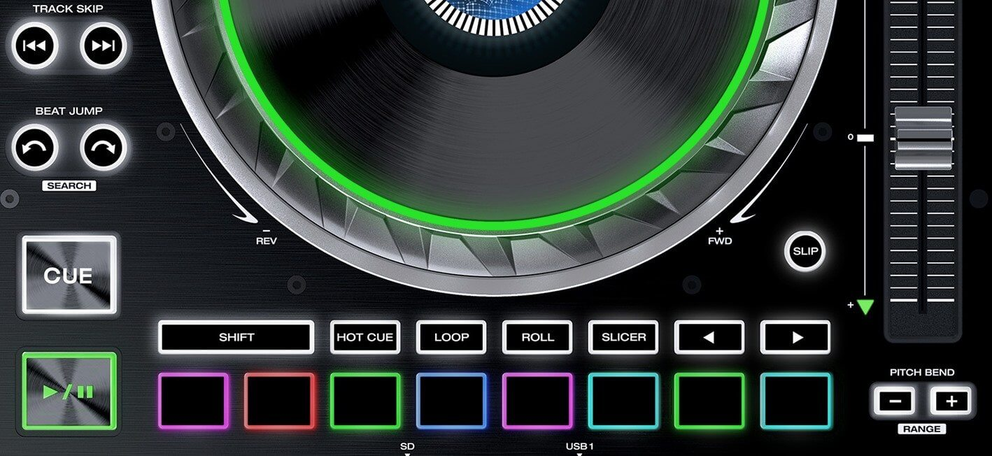 Denon DJ SC5000 performance section