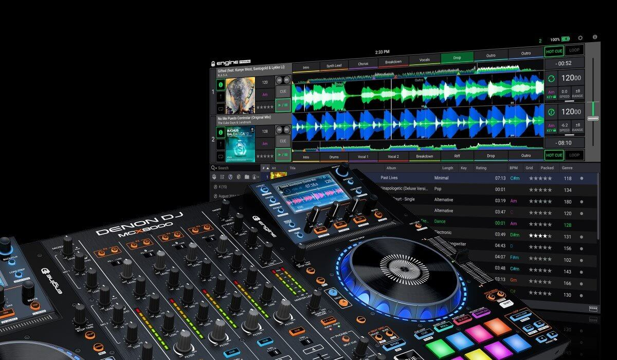 Denon DJ Engine Prime compatible with MCX8000
