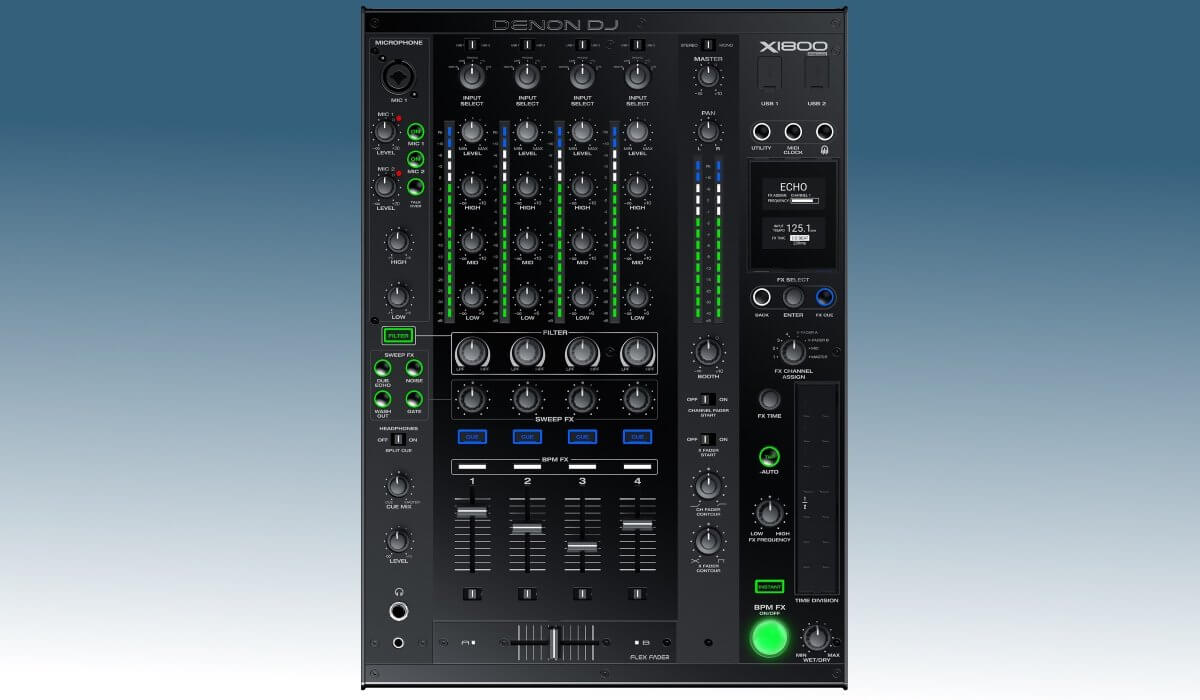 Denon DJ X1800 Prime Mixer Review And Video