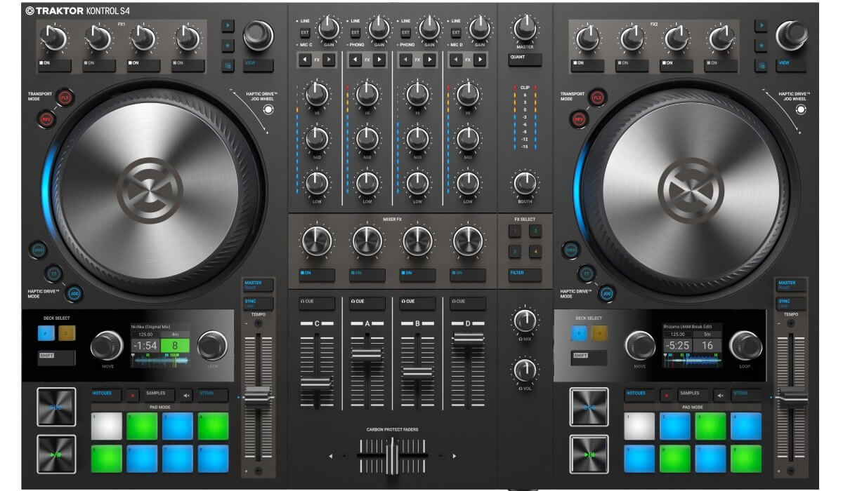 Native Instruments Traktor Kontrol S4 MK3 top view