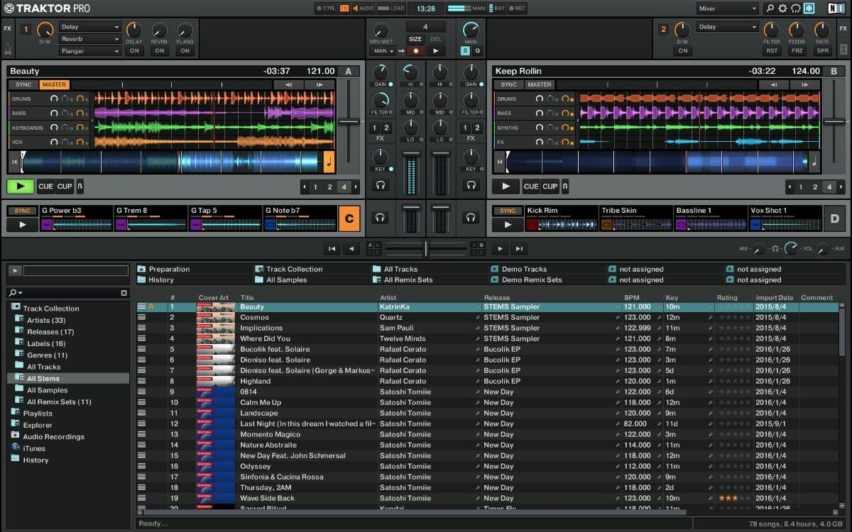 Traktor Pro 2 main screen