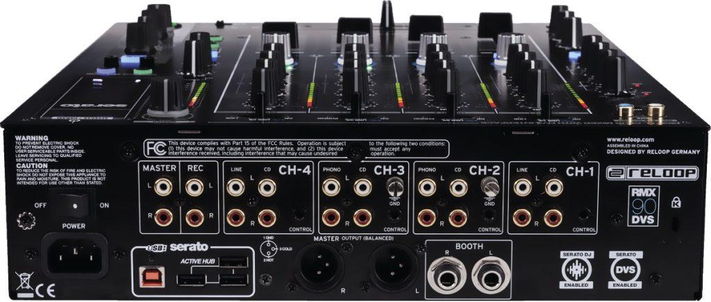 Reloop RMX-90 DVS inputs & outputs