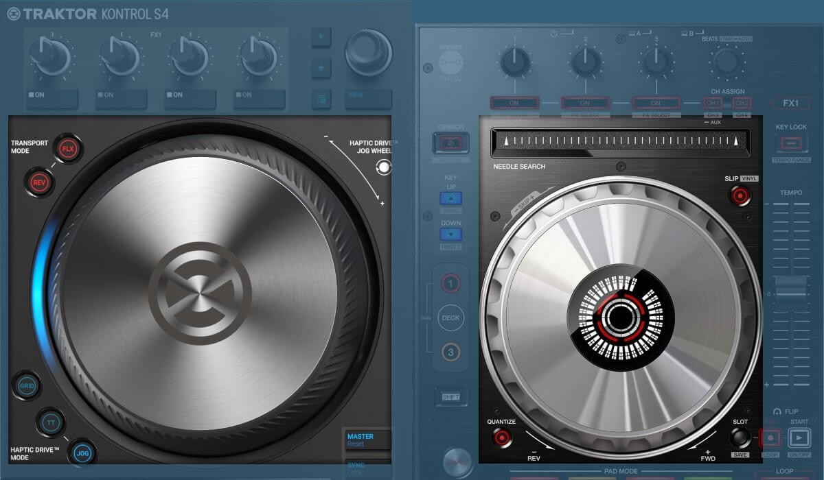 Pioneer DJ DDJ-SX3 versus Native Instruments Traktor Kontrol S4 MK3: the jog wheels
