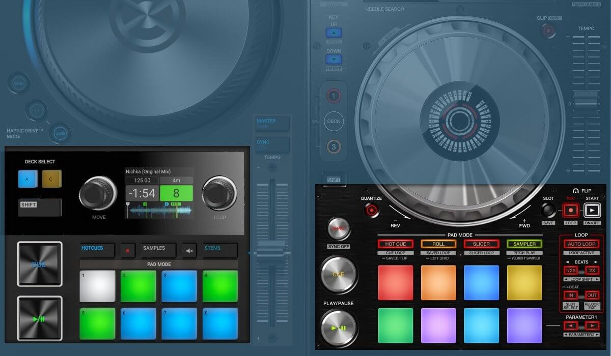 Pioneer DJ DDJ-SX3 versus Native Instruments Traktor Kontrol S4 MK3: the performance pads