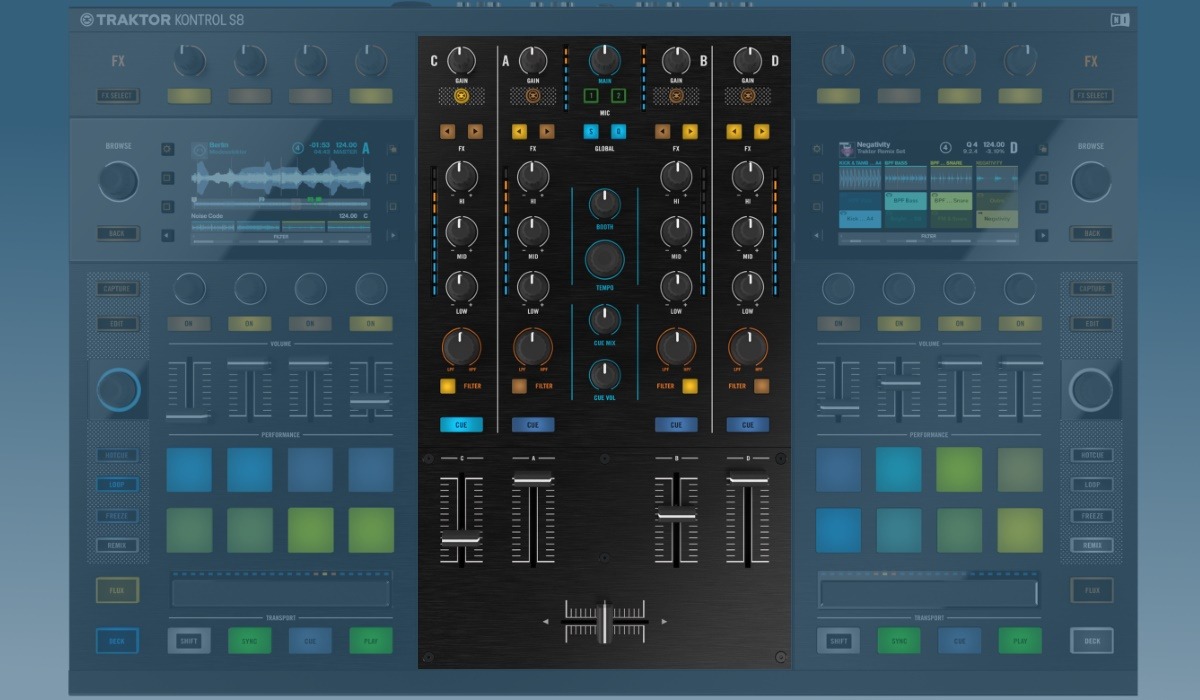 Native Instruments Traktor Kontrol S8 mixer section