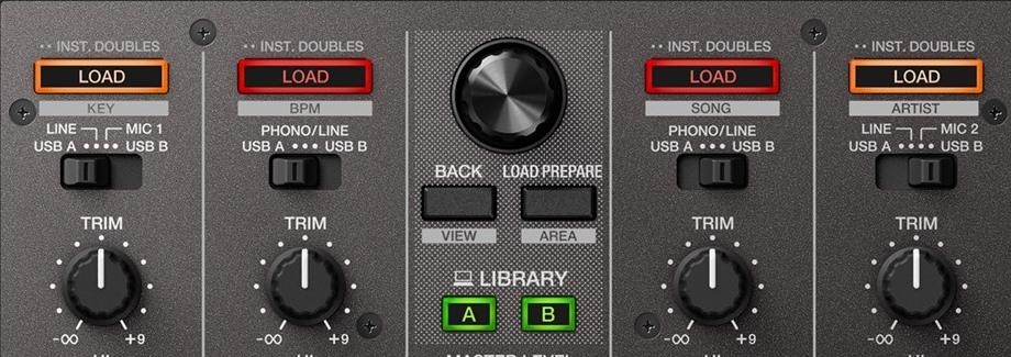 Pioneer DJ DDJ-SX3 channel switches