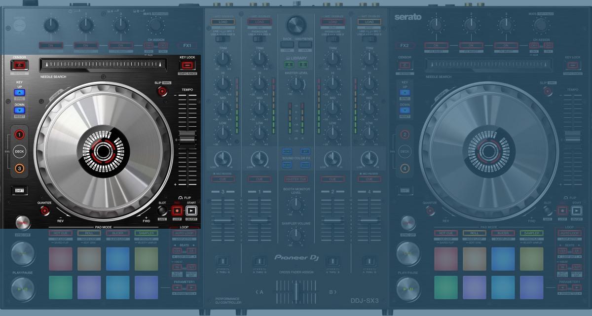 Pioneer DJ DDJ-SX3 jog wheels