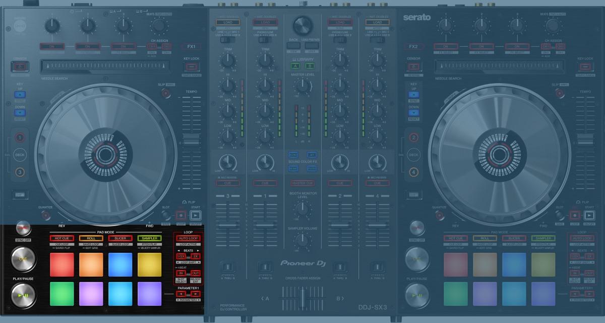 Pioneer DJ DDJ-SX3 performance section