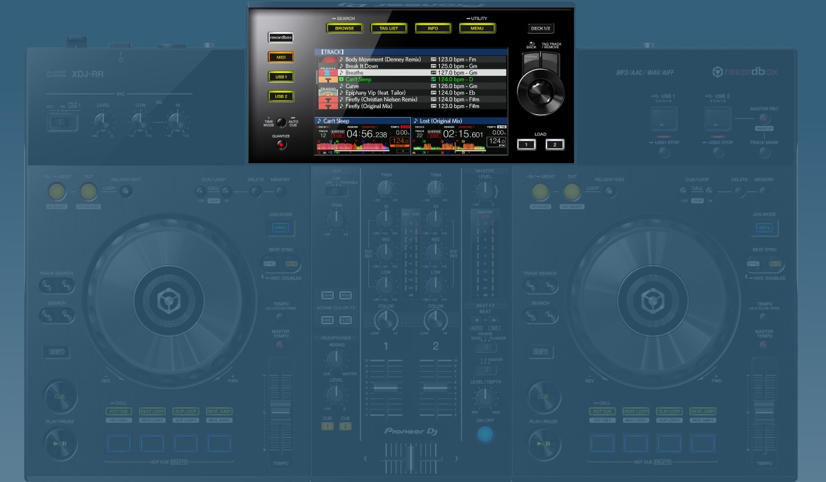 Pioneer DJ XDJ-RR screen