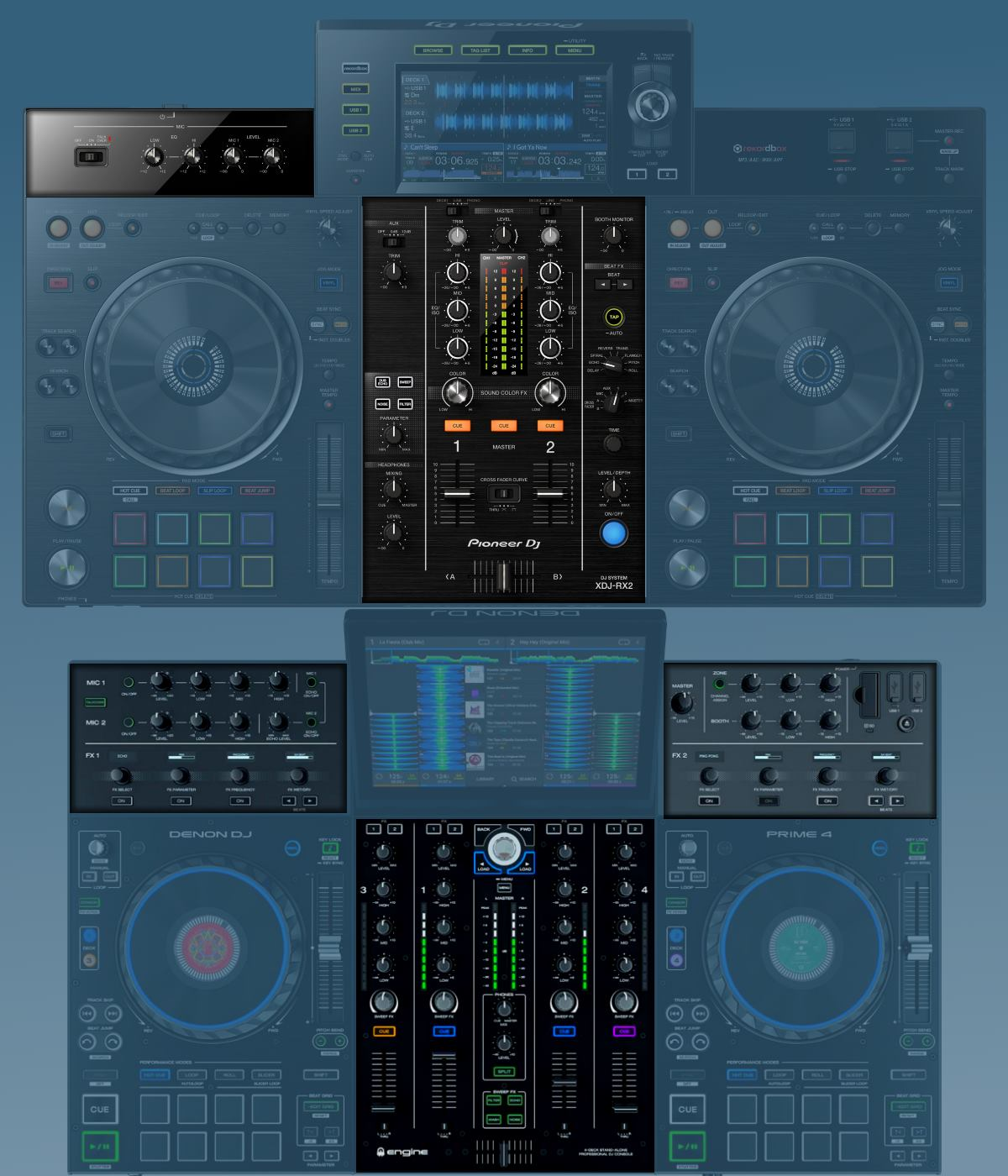 Prime 4 versus XDJ-RX2: the mixers compared