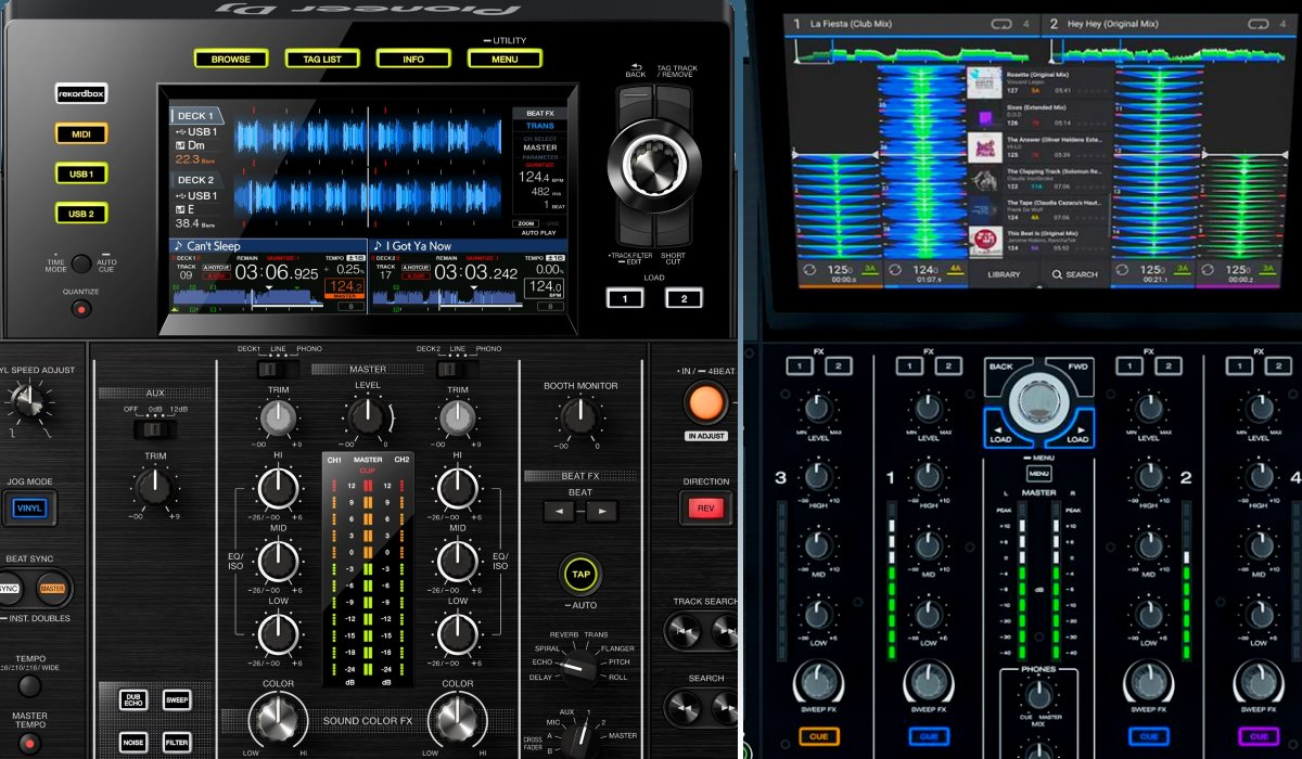Prime 4 versus XDJ-RX2: the screens compared
