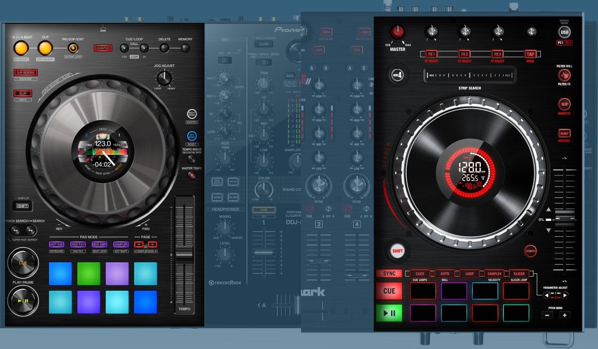 Pioneer DJ DDJ-800 versus Numarks NS6II: the decks compared.