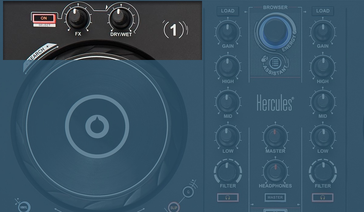 Hercules DJ Control Inpulse 300: the effects