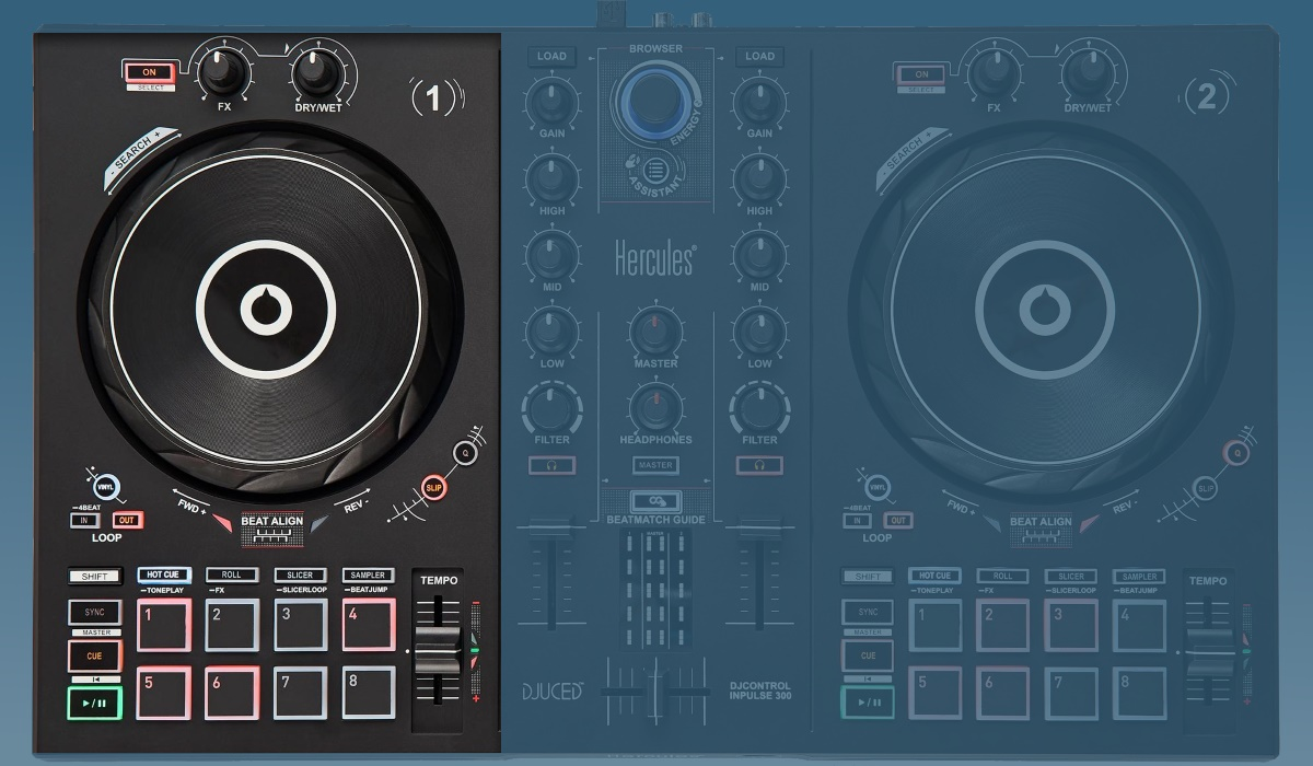 Hercules DJ Control Inpulse 300: the decks