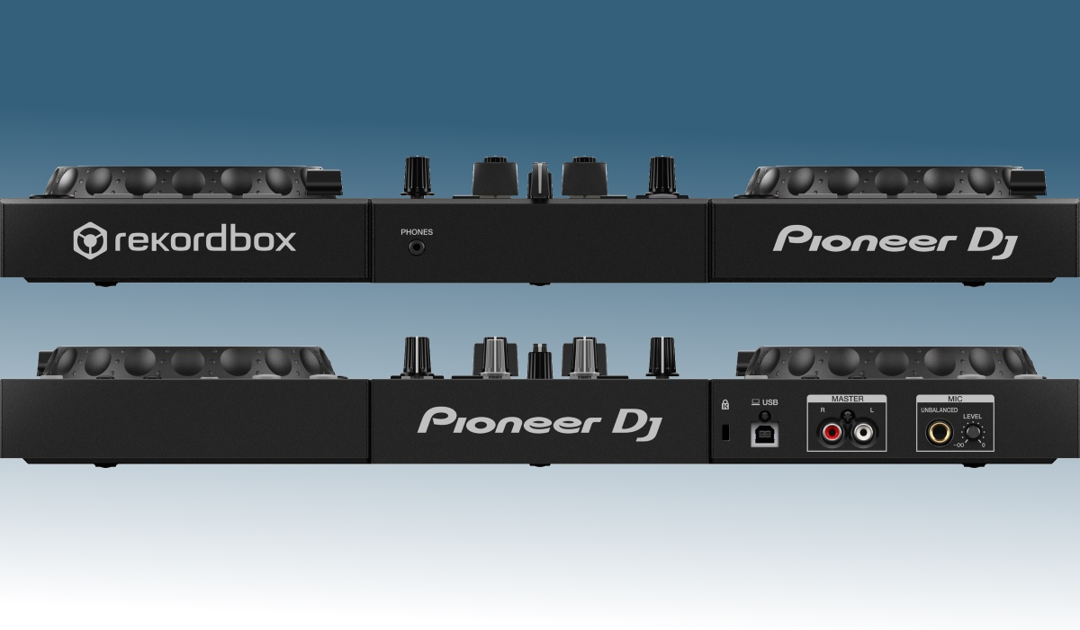 Pioneer DJ DDJ-400: the inputs and outputs.
