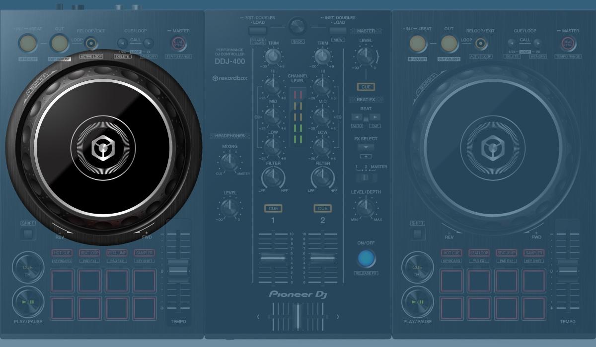 Pioneer DJ DDJ-400: the jog wheels.