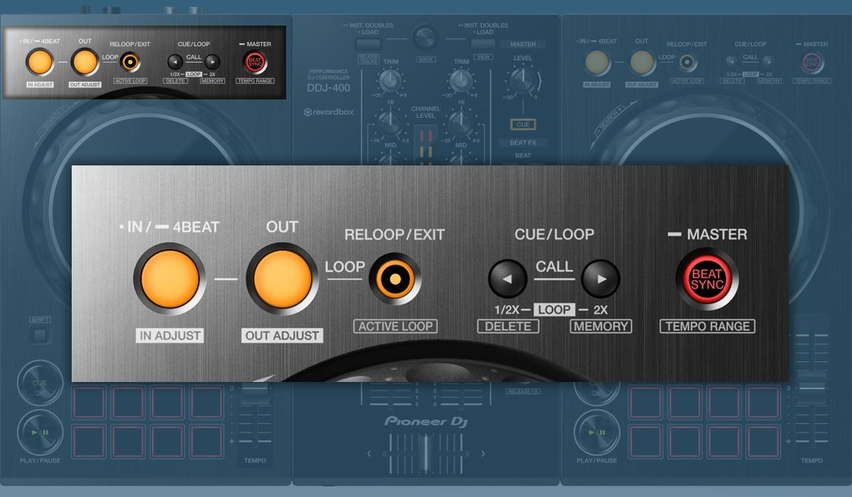 Pioneer DJ DDJ-400: the looping section.