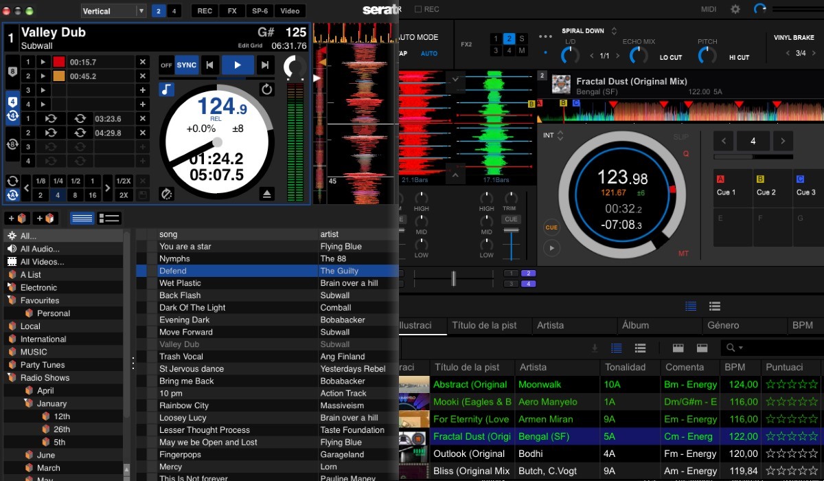 Pioneer DJ DDJ-800 versus Numarks NS6II: the software compared.
