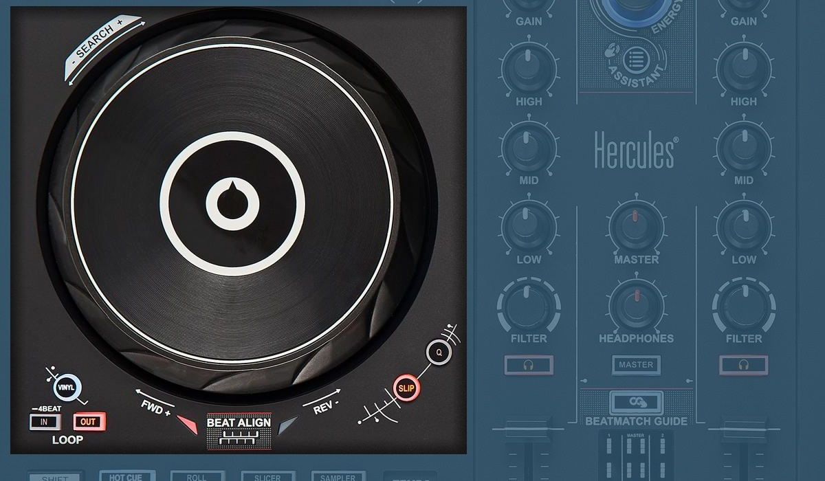 Hercules DJ Control Inpulse 300: the jog wheels