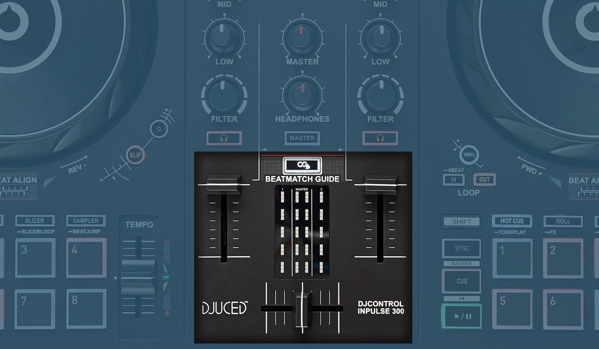 Hercules DJ Control Inpulse 300: the mixer bottom section