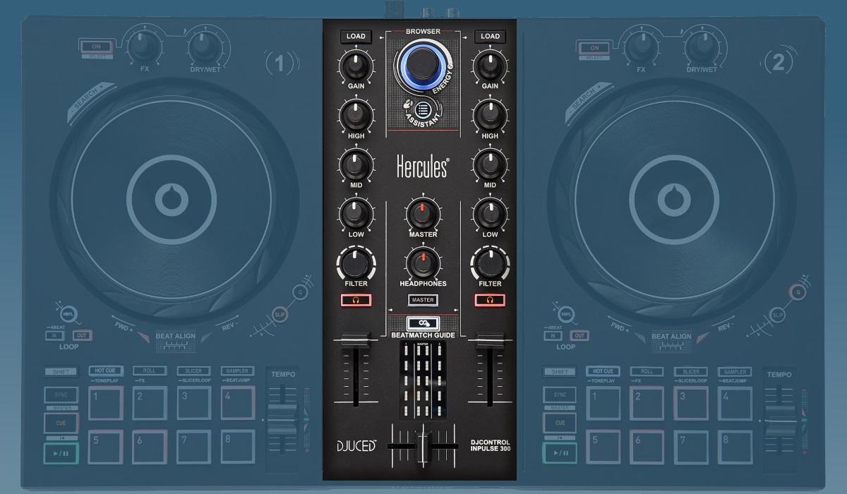 Hercules DJ Control Inpulse 300: the mixer