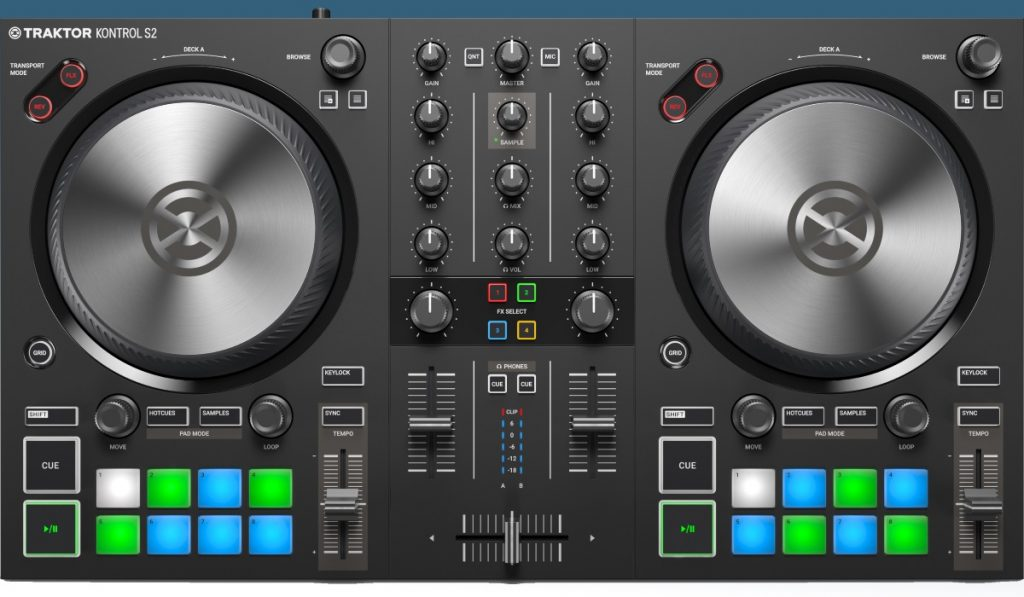 Native Instrument Traktor Kontrol S2 MK3 top view