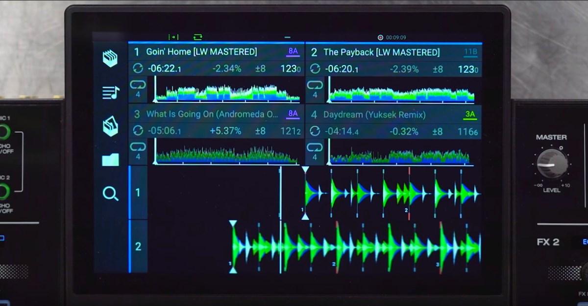 Denon DJ Prime 4 formas de onda horizontales