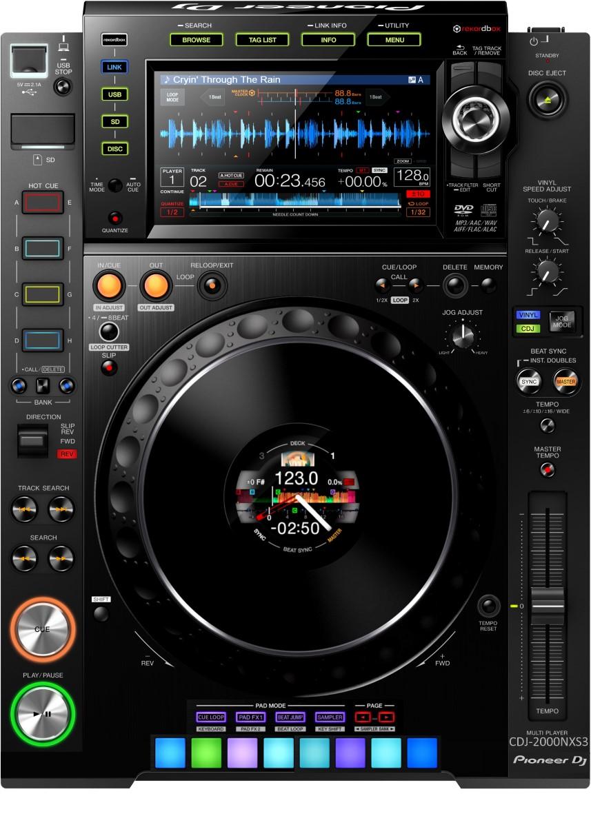 Pioneer DJ CDJ-2000NXS3 mock up