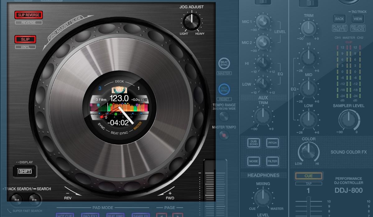 Pioneer DJ DDJ-800 jog wheels